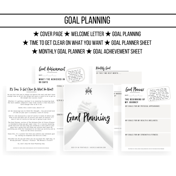 ULTIMATE D&F PLANNER 1ST EDITION WOO GOAL PLANNING IMAGE 2019 | MICHELE JAMISON