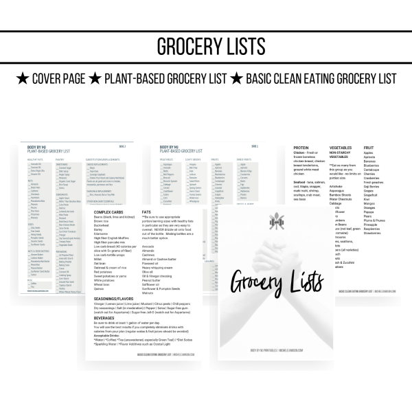 ULTIMATE D&F PLANNER 1ST EDITION WOO GROCERY LISTS IMAGE 2019 | MICHELE JAMISON